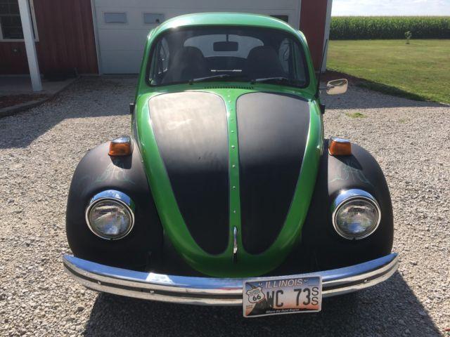 1973 Volkswagen Beetle Autostick Green Black Rare Automatic