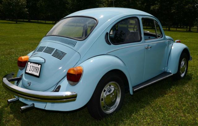 Used Volkswagen Beetle For Sale In Ohio >> 1974 74 VW VOLKSWAGEN–CLASSIC BEETLE BUG, BABY BLUE AUTO STICK