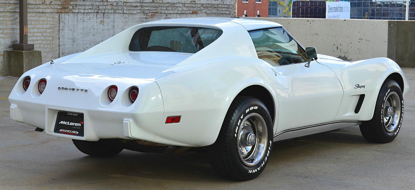 1974 chevy corvette stingray 350 l48 v8 white auto t tops. Black Bedroom Furniture Sets. Home Design Ideas