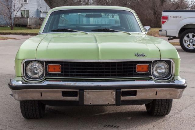 1974 Chevy Nova 2 Door Unrestored Lime Yellow Muscle Car Hot Rod