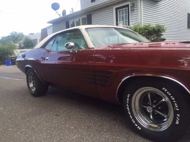 1974 Dodge Rallye Challenger Big Block 383 Red With White Interior White Top