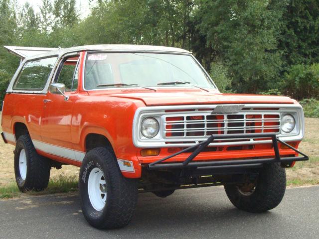 1974 Dodge Ramcharger Suv 2 Dr Convertible Pop Top Mega