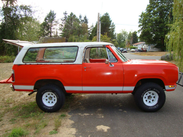 1974 Dodge Ramcharger Suv 2 Dr Convertible Pop Top Mega