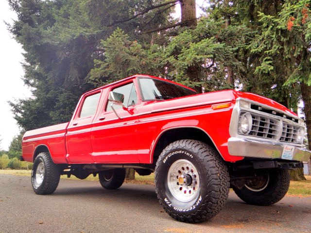 1974 ford f 250 4x4 crew cab highboy excellent condition fully restored for sale in gresham. Black Bedroom Furniture Sets. Home Design Ideas
