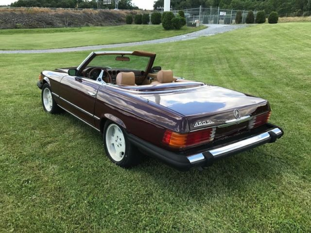1974 mercedes benz 450sl burgundy with 86 522 miles for Mercedes benz of morgantown