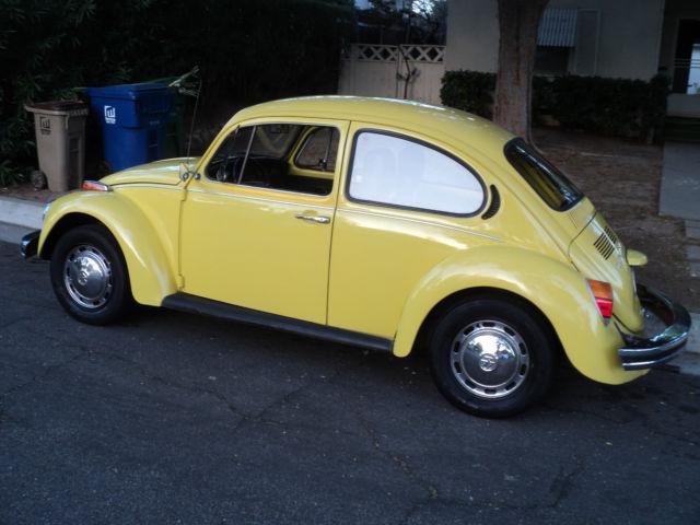 1974 Vw Bug Beetle Yellow Standard Bug Manual Transmission