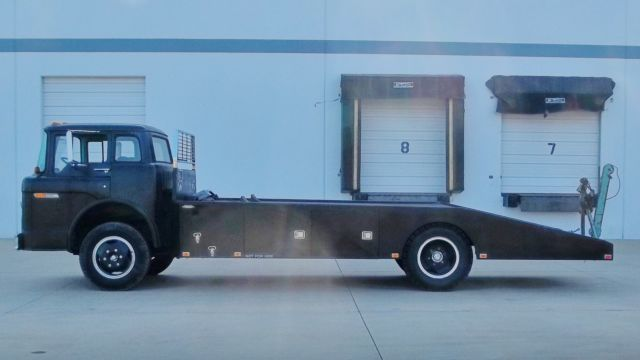 1975 FORD C 600 COE RAMP TRUCK WEDGE BODY CAR HAULER CABOVER