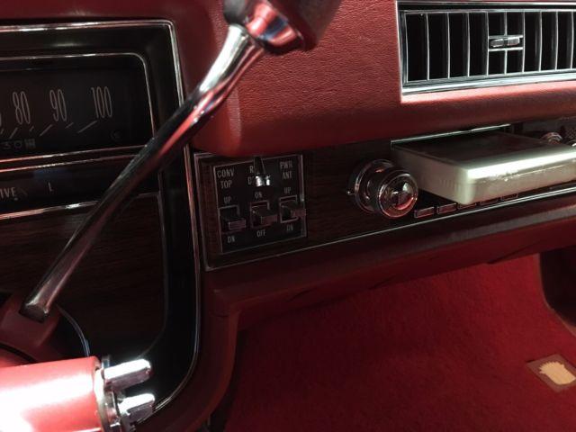 1976 Cadillac Eldorado Convertible Red Red Leather