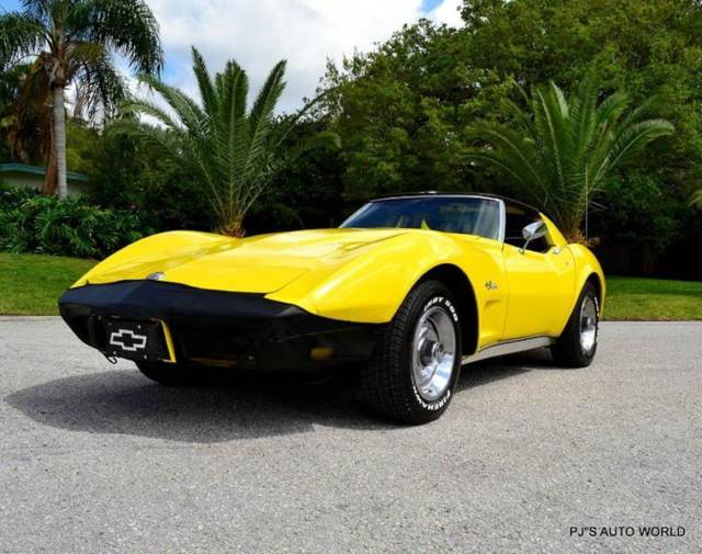 1976 chevrolet corvette stingray 63 248 miles yellow coupe 350 manual. Black Bedroom Furniture Sets. Home Design Ideas