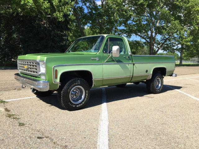 1976 chevy silverado 10 4x4 1 owner 45 281 original miles for Chevy v8 motors for sale