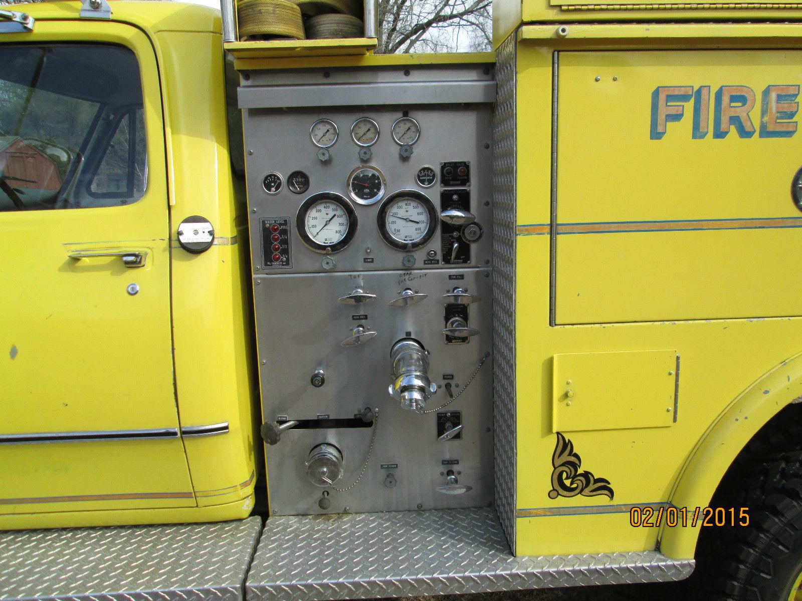 1976 Dodge Power Wagon W300 Mini Pumper Emergency Fire Truck 20943 76 Wiring Schematic Miles