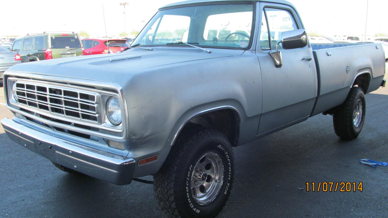 1976 Dodge Ram D100 Pickup Truck 93k Actual Miles No