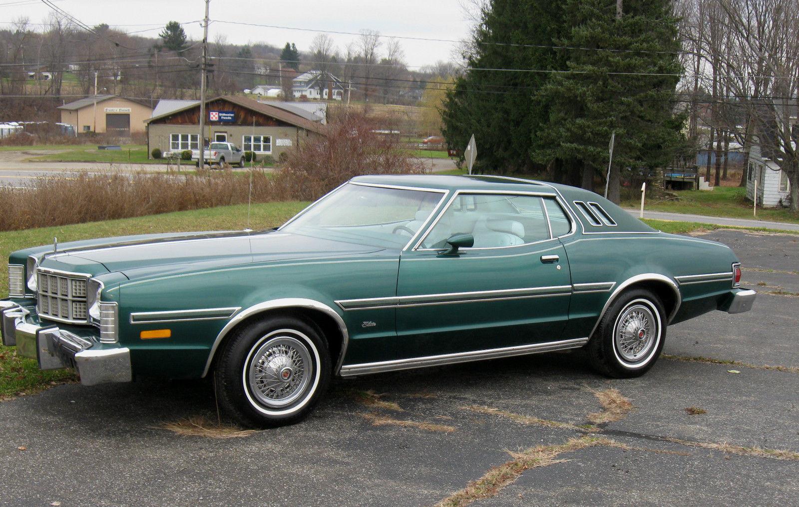 1976 ford elite original 351w jade green. Black Bedroom Furniture Sets. Home Design Ideas