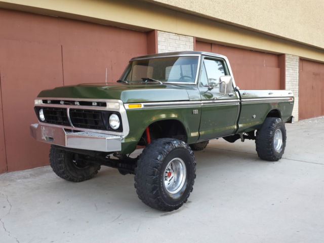 1976 ford f250 4x4 highboy beast rebuilt 460 v8 4 speed for Ford truck motors for sale
