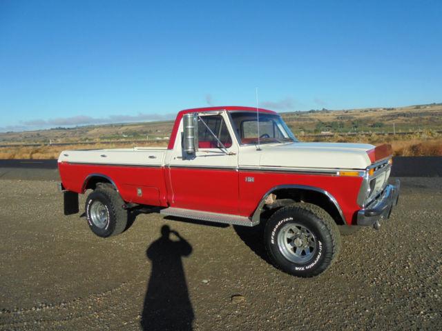 1976 Ford High Boy 4x4 428 Fe 1 Owner No Rust Highboy F250 F 250