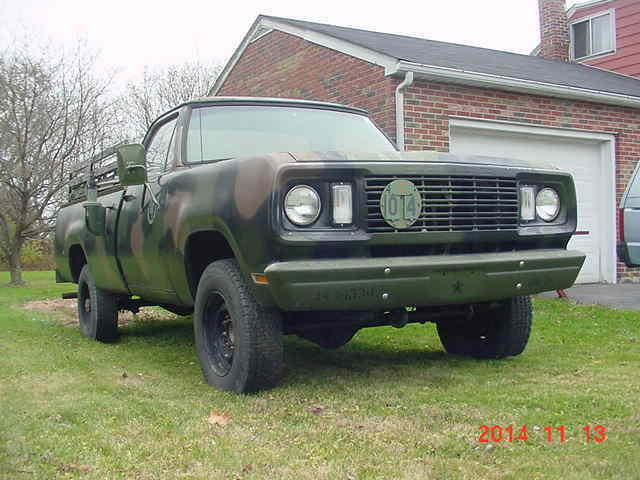 Dodge M Military Ton Power Wagon Pickup Truck M Army Surplus on 1977 Dodge Power Wagon M880