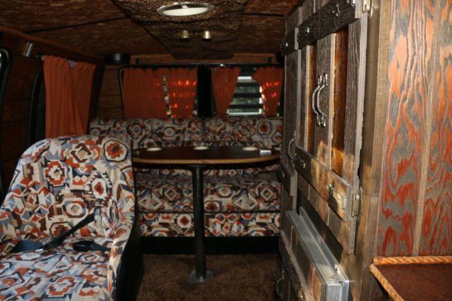 1977 Dodge Vintage Conversion Van With Eagles Hotel California Custom Artwork