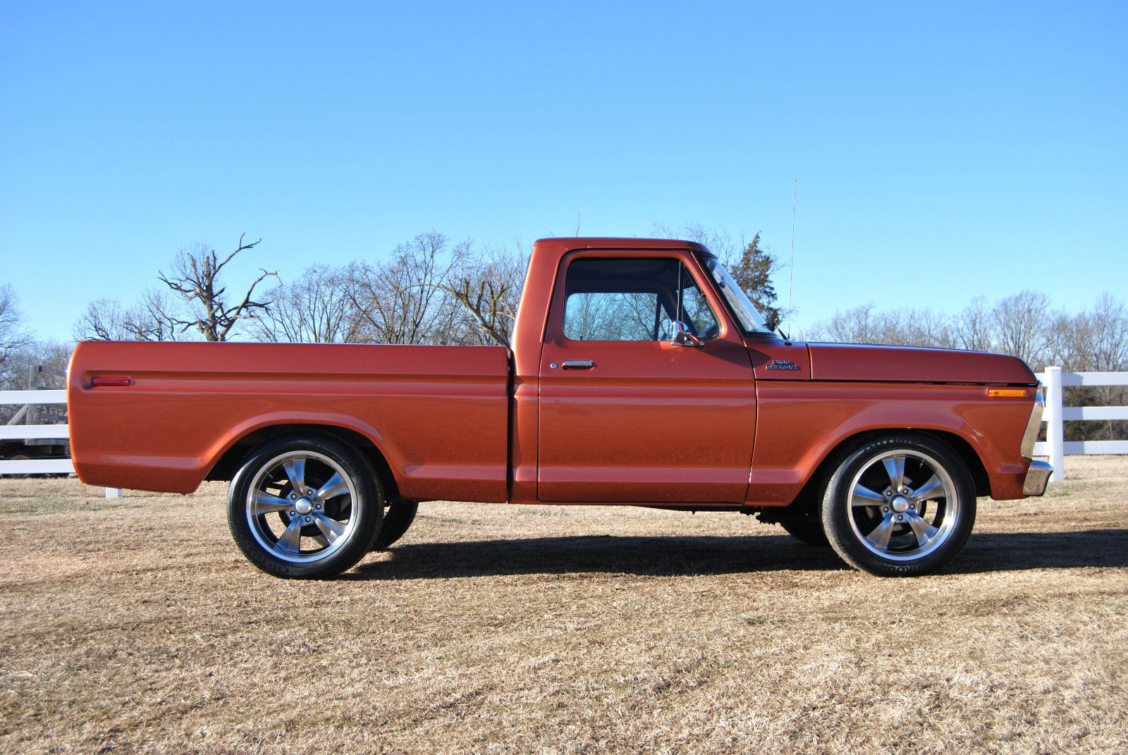 Ford F150 Factory Rims For Sale 1977 F100 Custom New Paint Lowered Rocket Racing Wheels ...