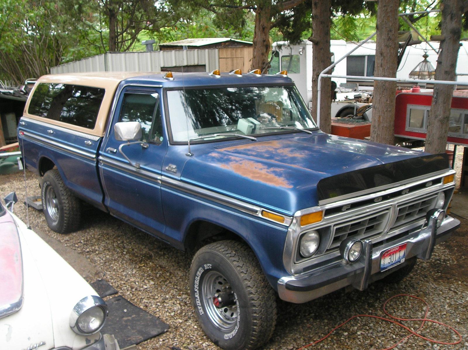 1977 ford f250 highboy blue 4spd. Black Bedroom Furniture Sets. Home Design Ideas