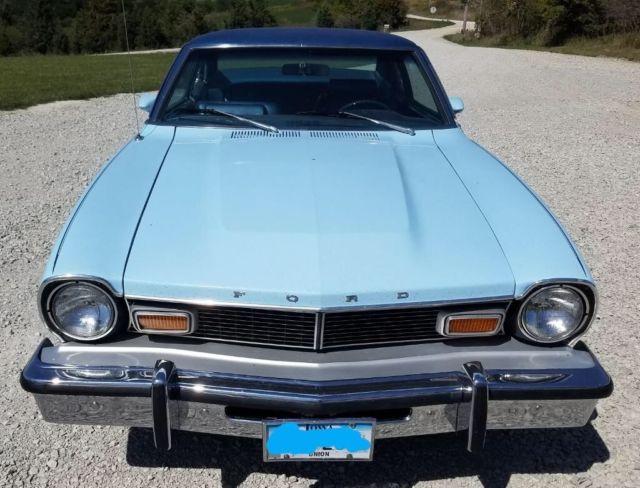 1977 ford maverick low miles light blue. Black Bedroom Furniture Sets. Home Design Ideas