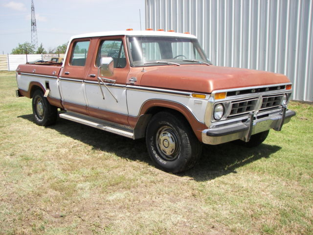 1977 ford xlt f 250 crew cab short bed pick up truck. Black Bedroom Furniture Sets. Home Design Ideas