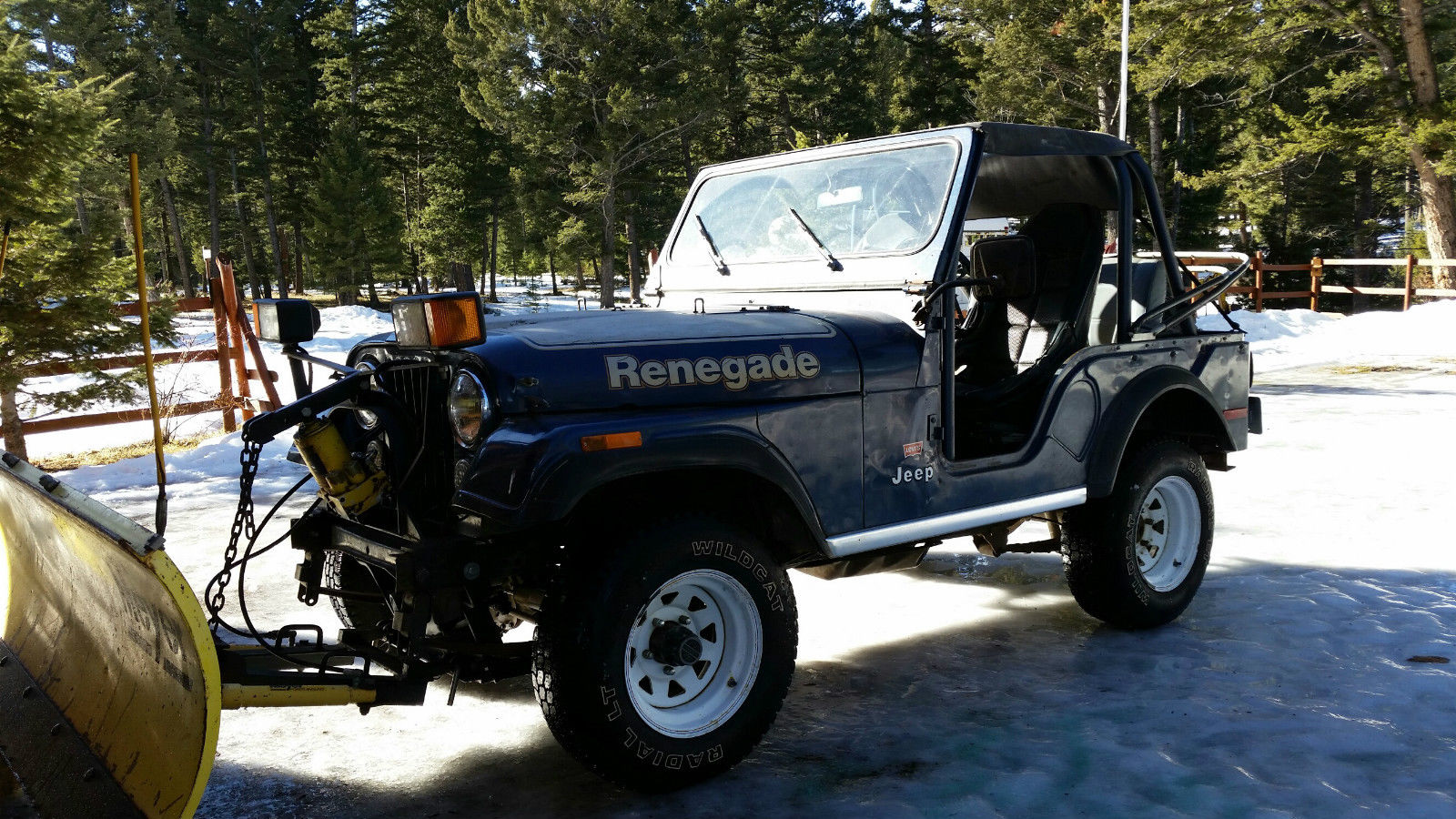 1977 jeep cj5 meyers snow plow renegade 4x4 for sale. Black Bedroom Furniture Sets. Home Design Ideas