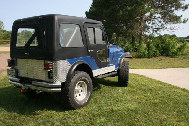 1977 jeep cj5 renegade beautiful baby blue jeep with low miles 19k. Black Bedroom Furniture Sets. Home Design Ideas