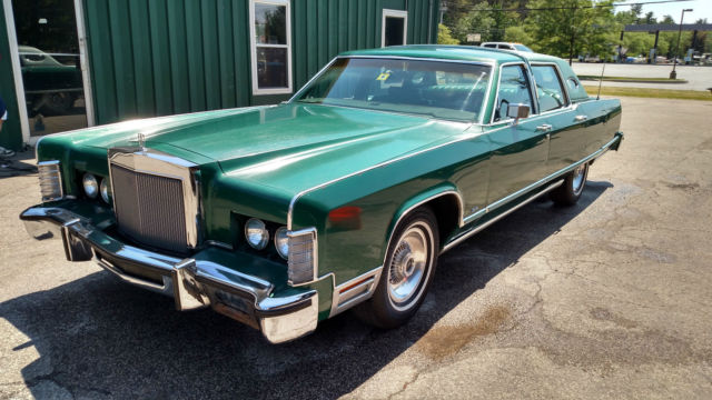 1977 Lincoln Town Car Vintage Classic Original Green Leather Loaded