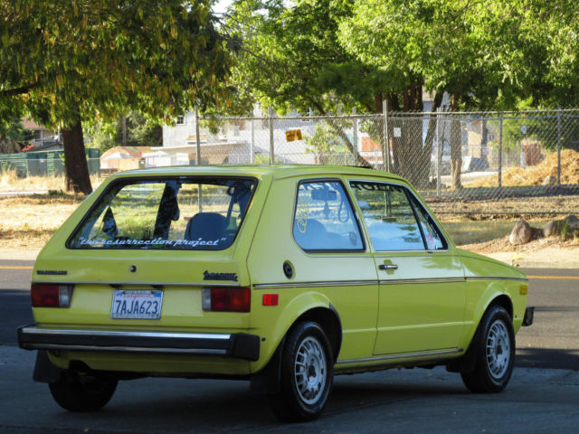 1977 Mk1 Turbo Diesel Vw Rabbit 2 Door Sunroof