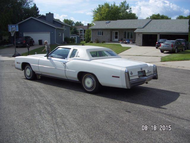 Cadillac Eldorado Biarritz Coupe White With White Leatherred Trim