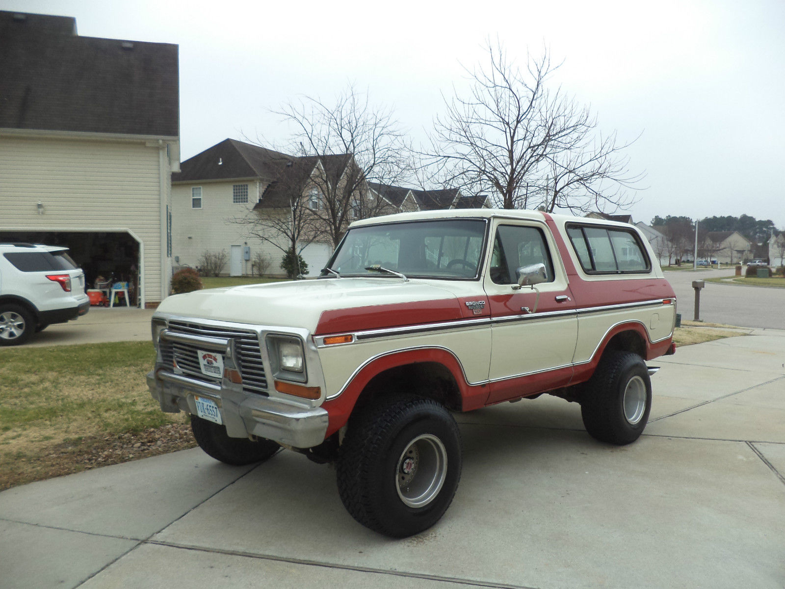 1978 Ford Bronco Lifted Clean No Reserve Red And White