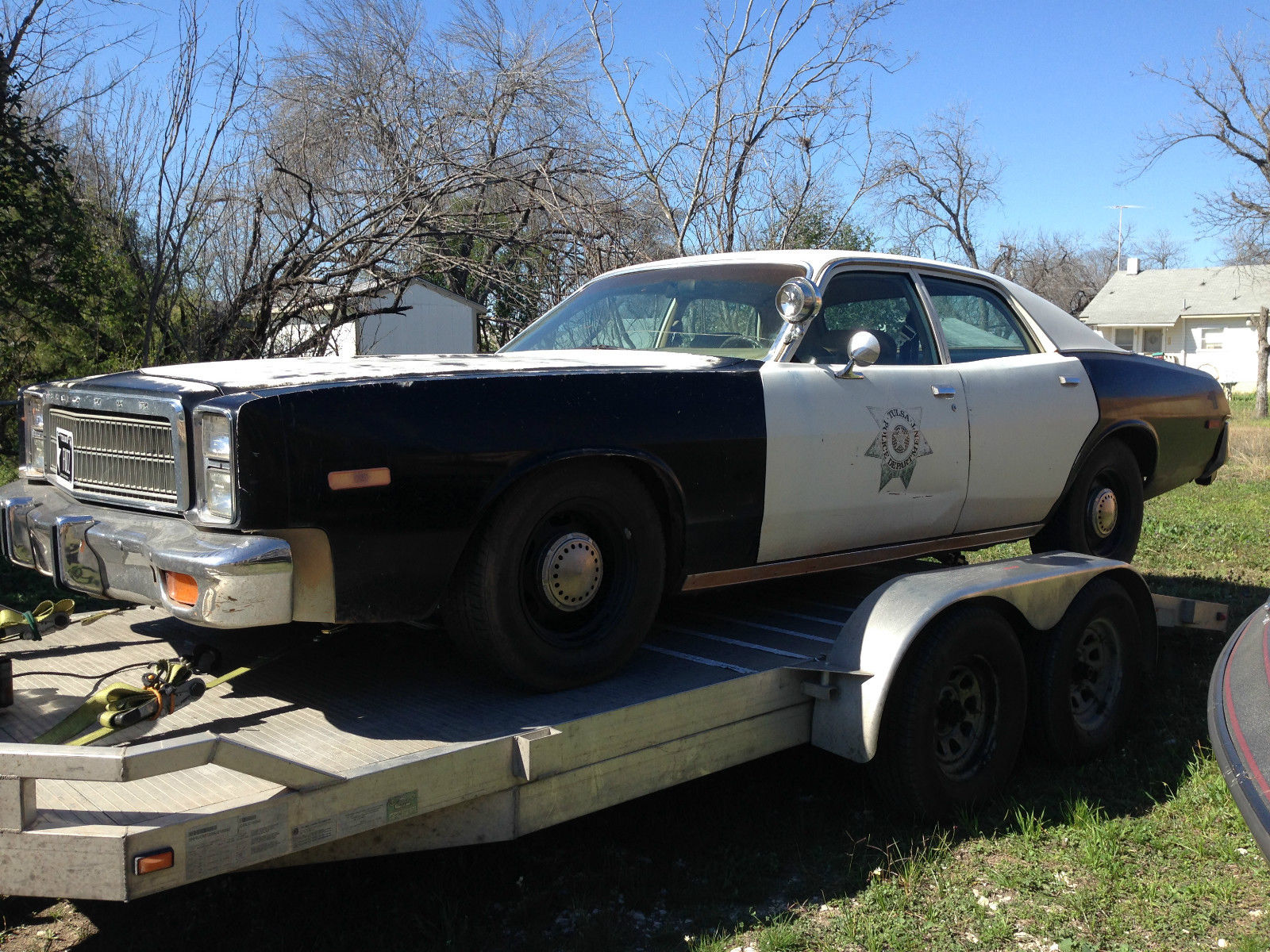 1978 plymouth fury police car original tulsa police car survivor very rare for sale in san. Black Bedroom Furniture Sets. Home Design Ideas