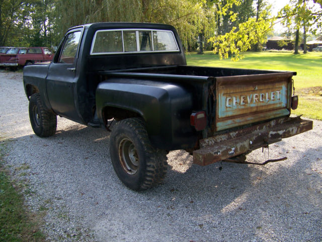 1979 chevrolet short bed stepside 4x4 pickup truck. Black Bedroom Furniture Sets. Home Design Ideas