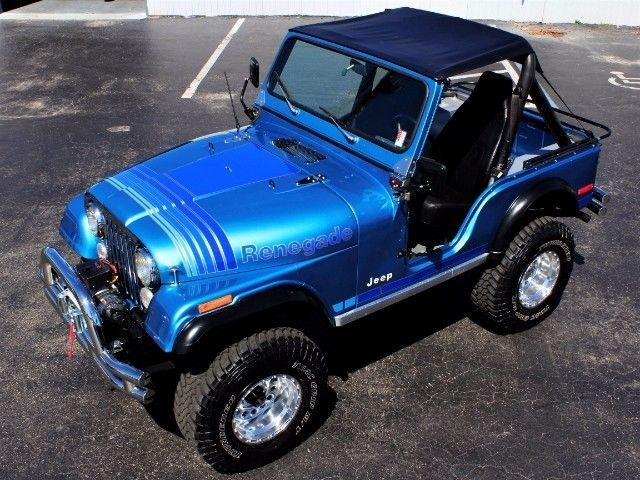 1979 jeep cj5 renegade 1 miles blue v8 mamual. Black Bedroom Furniture Sets. Home Design Ideas