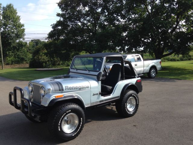 1979 jeep cj5 renegade new crate 360 amc 3 speed manual 33 39 bf 39 s. Black Bedroom Furniture Sets. Home Design Ideas