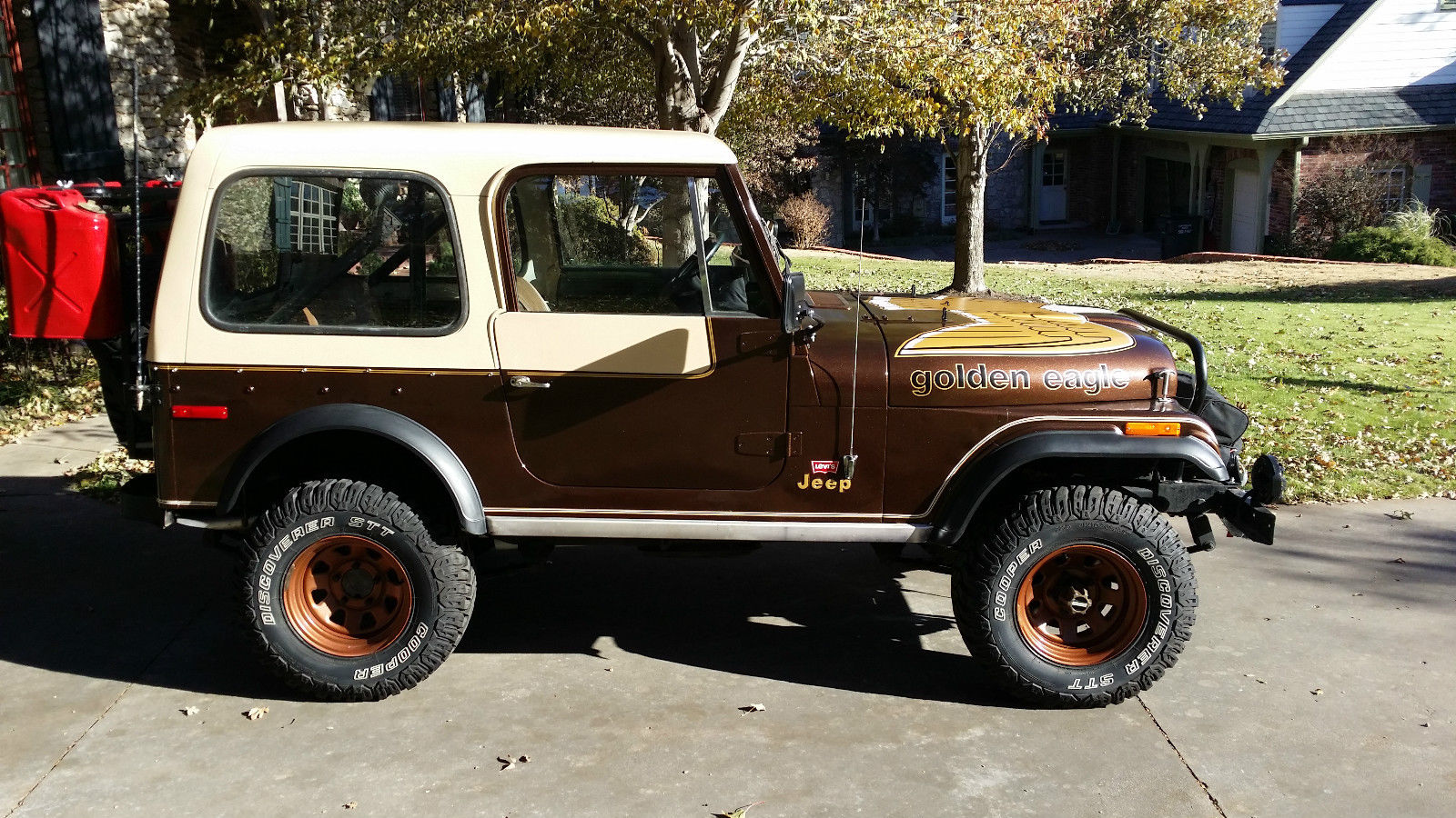 Cj7 Jeep For Sale >> 1979 Jeep CJ7 Golden Eagle 304 V8 4 Speed Levi Package Winch Tow Bar Rear Rack