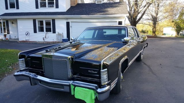 1979 Lincoln Continental 2 Door Blk Blk Leather