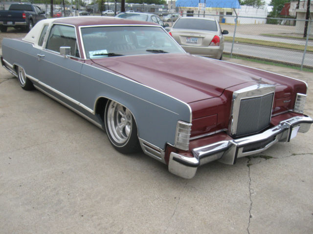 1979 Lincoln Town Coupe Rat Rod Hot Rod Slammed Bagged Low Rider