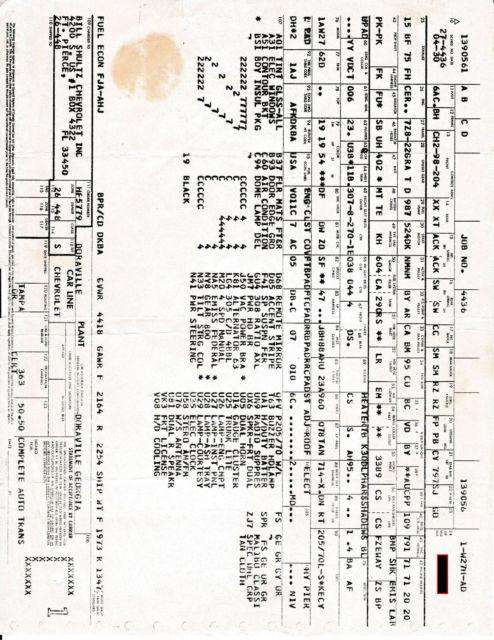 1980 chevrolet malibu classic sport  factory 4 speed  1 of