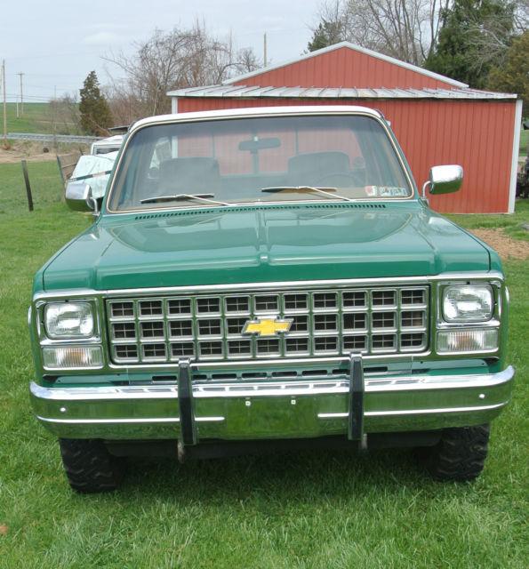 1980 Chevy Silverado 3/4 ton 4 wheel drive truck