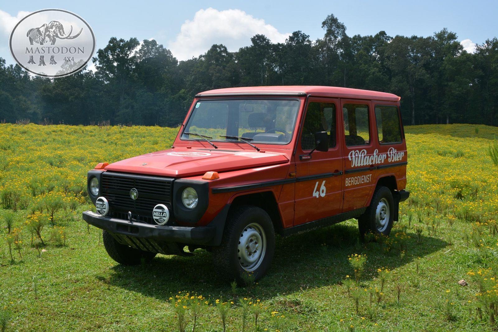 1980 red barn door 230ge red 4x4 hardtop g class g wagen for Mercedes benz hoover al