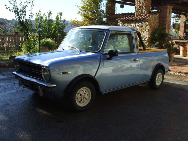 1981 austin mini clubman pick up summer blue. Black Bedroom Furniture Sets. Home Design Ideas
