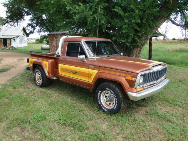 1981 jeep j10 honcho step side truck short bed. Black Bedroom Furniture Sets. Home Design Ideas