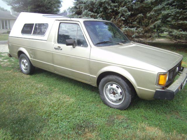 1981 vw rabbit pickup truck diesel 5 speed with rust. Black Bedroom Furniture Sets. Home Design Ideas