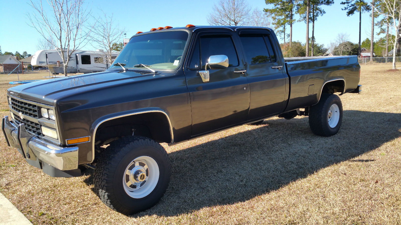 1982 chevy silverado 3500 crew cab long bed 4x4 truck for Classic beds for sale