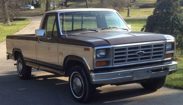 1982 ford f 150 xl pickup truck 2wd survivor 73k original no rust 6 cyl 2 owner. Black Bedroom Furniture Sets. Home Design Ideas
