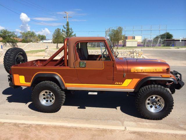 1982 jeep cj8 scrambler v8 fuel injected bronco ish for Texas department of motor vehicles el paso tx