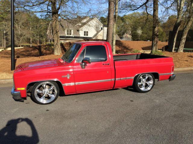 """1983 C10 Chevy Short bed Silverado RED 20"""" Americans ..."""