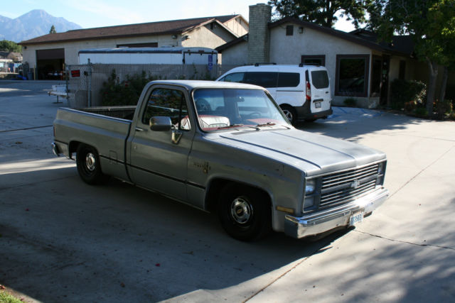 1984 chevy c 10 silverado shortbed fleetside square body 1982 1983 1985 1986. Black Bedroom Furniture Sets. Home Design Ideas