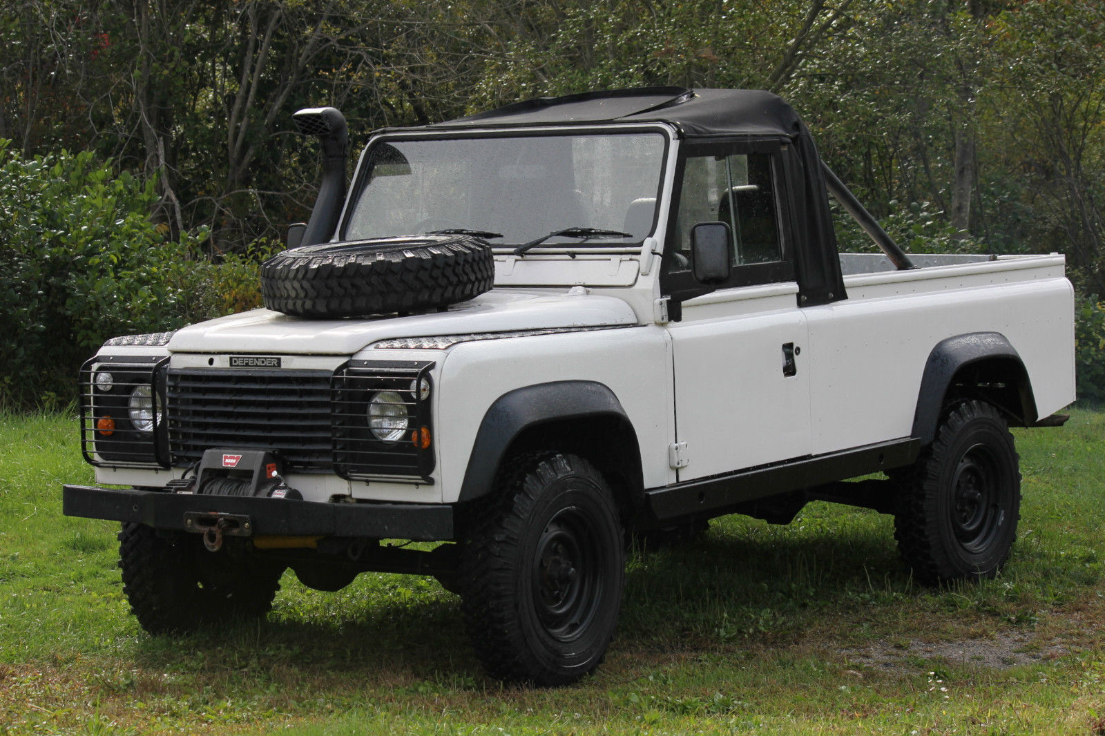 1984 land rover defender 110 200tdi turbo diesel soft top pickup truck. Black Bedroom Furniture Sets. Home Design Ideas